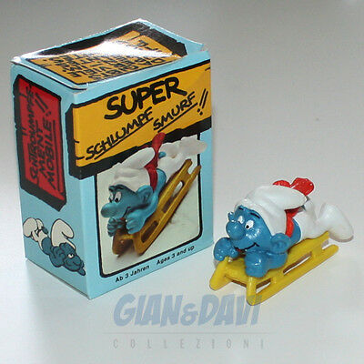 PUFFO PUFFI SMURF SMURFS SCHTROUMPF 4.0201 40201 Bobsled Slittino Box 5A