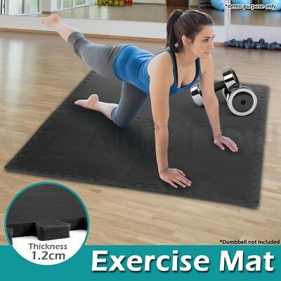 Fitness EVA Rubber Home Gym Interlocking Waterproof Mat Workout Floor Exercise