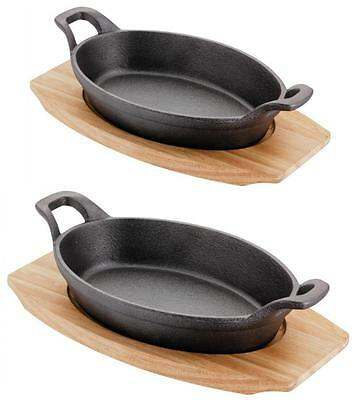 Judge Cast Iron Oval Sizzle & Serve Gratin Oven To Table Baking Dish with Tray