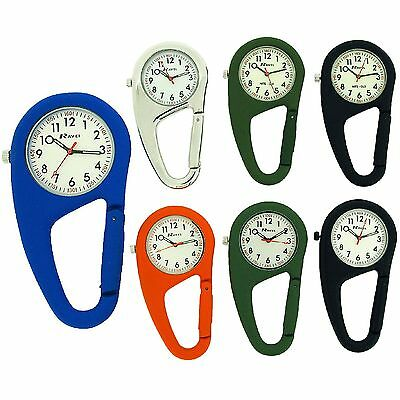 Ravel Clip On Doctors Nurses Unisex Carabiner Pocket Fob Backpack Watch R1105