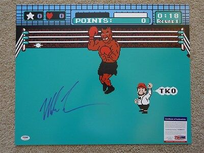 Mike Tyson Signed Auto 16X20 Photo Mike Tyson's Punch Out Jsa Autographed