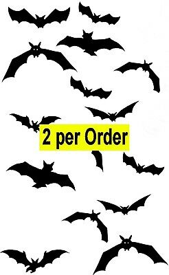 Flying Bats 2 Temporary Tattoos Waterpoof Vampire Bat Halloween Body Transfer