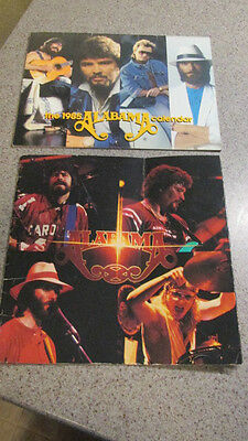 """ALABAMA! - 1984, """"Roll On"""", Concert Tour Book w/'85. signed, Calendar, Pre-Owned"""