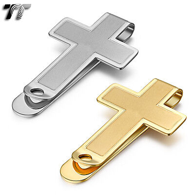 High Quality TT 316L Stainless Steel Cross Money Clip (MC42)