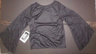 NWT Praisewear Blouse Liturgical Black Long Bell SLeeve ch/Ladies  pullover