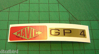 VINTAGE MAVIC GP4 Rim decals, 'Red' version X 2 sets- perfect for renovations