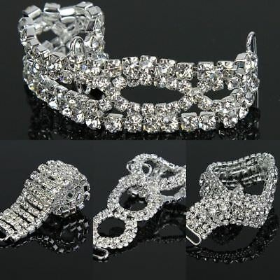 1 Pc Glass Crystal Rhinestone sSilver Strass Bikini Belt Buckle Sliders Ribbons