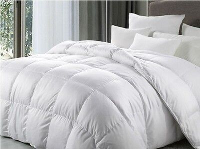 New King Bed Size 10.5 Tog 100% White Duck Feather Duvet / Quilt