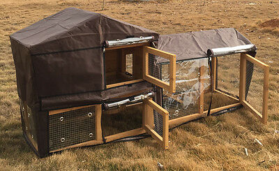 Cover For Large Bunny Xl Rabbit Hutch Guinea Pig Hutches Double