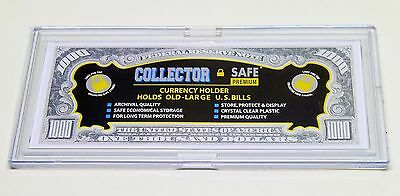 Acrylic Snaplock Currency Holder for Large Old Bank Notes Money