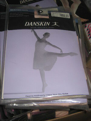 4e07a93200294 New DANSKIN WOMEN'S DANCE 711 LT TOAST or Theatrical PINK Footless TIGHTS  ...