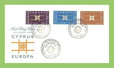 Cyprus 1963 Europa/CEPT set on unaddressed First Day Cover
