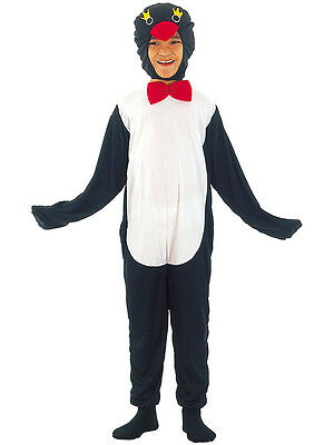 Childs Comical Penguin With Bow Tie Animal Kids Christmas Costume Ages 4-13 CC65