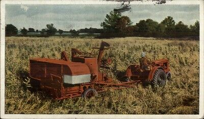 Vintage Allis-Chalmers Post Card Postcard Two Row Mounted Corn Harvester Un-used