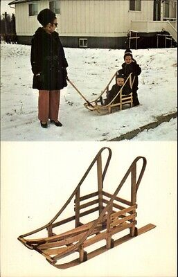Mini-Sled - Mfg by Tremblay Canoes of St. Felicien Quebec Postcard