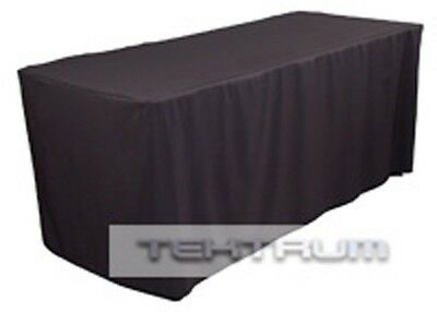 New 6' Fitted Table Jacket Cover Cloth Black - Banquet