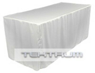 New 6' Fitted Table Jacket Cover Cloth White - Banquet