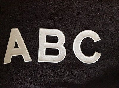 PERSONALISE DIY EMBROIDERY IRON ON LARGE LETTER PATCH NAME GIFT 11x8cm 4 COLOURS