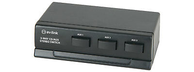 3 Port CD/AUX RCA Input Stereo Audio Change Switch Sound Music Selector Switcher
