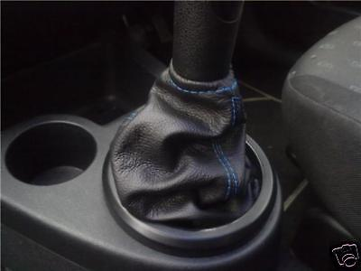 Fits Ford Fiesta Mk6 Leather Gear Shift Boot Gaiter Blue St