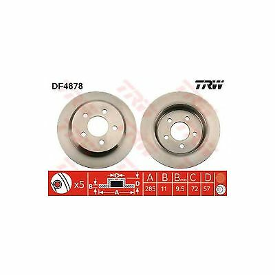 TRW Solid Rear Brake Discs Genuine OE Quality Service Replacement Pair