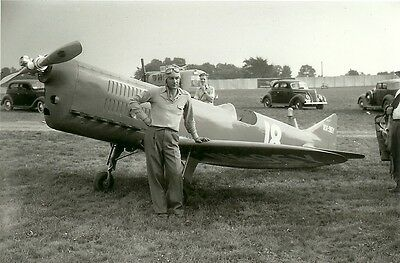 R-6 Rider Racing Airplane In 1939  B&w 5 X 7 Photograph -  George Byars - Pilot