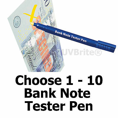 1-10 Counterfeit Banknote Tester Pen Forged Fake Note Money Checker Detector