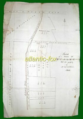 1812 Yorkshire Original SURVEY PLAN of the Farms on Town Street SCALBY