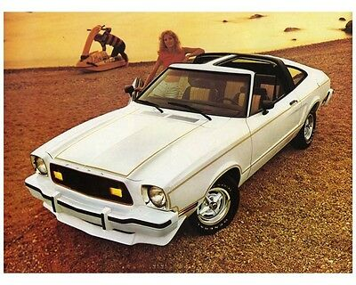 1978 Ford Mustang II Automobile Photo Poster zca2409