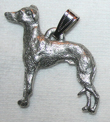Italian Greyhound Grey Hound Dog Harris Fine Pewter Pendant Jewelry USA Made