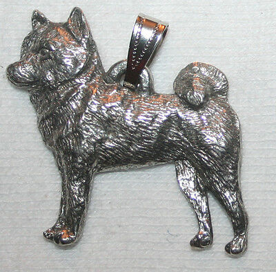 Shiba Inu Dog Harris Fine Pewter Pendant Jewelry USA Made