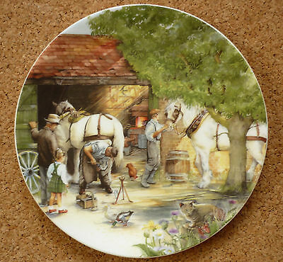 """The Blacksmith Royal Doulton Limited Edition China 8"""" Plate Susan Neale Perfect"""