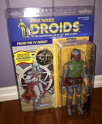 "Sdcc 2015 Gentle Giant Star Wars Droids Boba Fett 12"" Jumbo Animated Figure Rare"