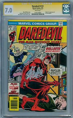 Daredevil #131 Cgc Signature Series Signed Stan Lee 1St App Bullseye Tv Series