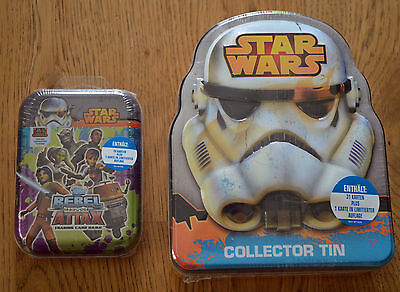 Rebel Attax Serie 1 Tin Box + Mini Tin Set Deutsch Neu & OVP Topps Star Wars