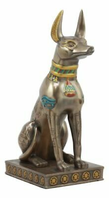 "Large Egyptian Jackal Dog Anubis Statue 12.5""H God Of Mummification Afterlife"