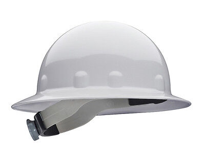 Fibre-Metal White Full Brim Hard Hat with Ratchet Suspension, E1RW01