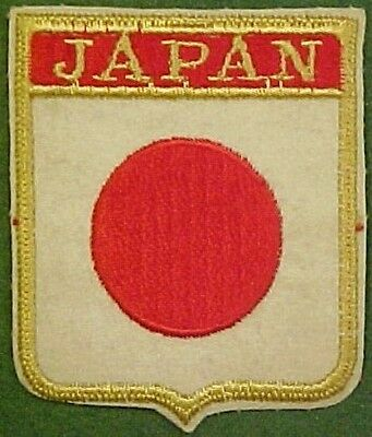 Japan on White Felt Patch