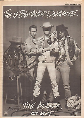 Big Audio Dynamite / The Clash Trade Advert poster from UK British Music Press