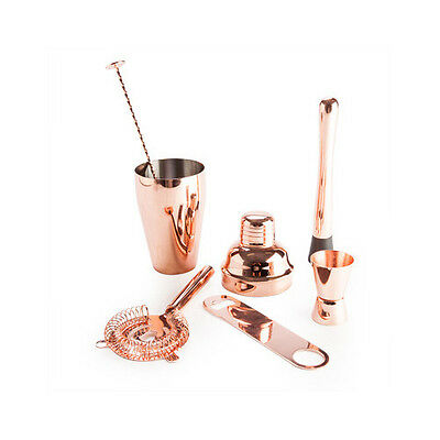 Stainless Steel Tools Parties Drinking Sessions 6pcs Copper Cocktail Bar Set