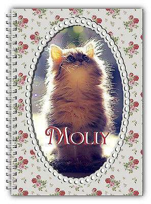 A5 Personalised Pet Diary With Own Photo/ Pet Photo Care Diary/Journal 50 Lined