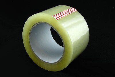 6 Rolls Clear EXTRA WIDE 72mm Sticky Packing Sealing Tape x100 Meter 45micron