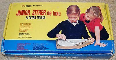 Vintage 1960's Junior Deluxe ZITHER Musical Instrument-Made in Italy by Harbert
