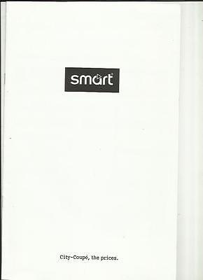 Smart City-Coupe Prices Sales Brochure  December 2000 For 2001 Model Year