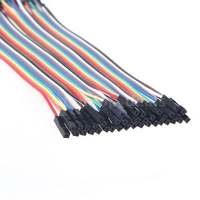 40pcs Dupont Male-Female Jumper Wire Cable For Arduino Breadboard 20cm DL_US