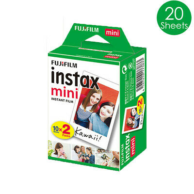 20 Sheet Fujifilm Instax Mini White Film Fuji instant photos 7s 8 Plus 90 25 AU