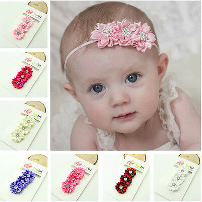 Baby Toddler Girls Infant Flower Hairband Headband Hair Accessories Headwear New
