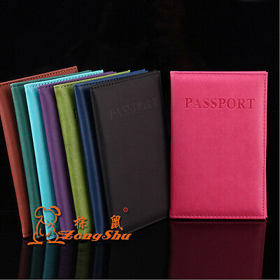 New Passport Holder Protector Cover Wallet PU Leather Cover SS1506