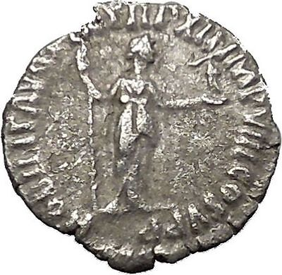 COMMODUS Son of Marcus Aurelius Rare  Silver Ancient Roman Coin Nobilitas i51030