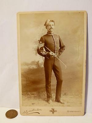 Antique c1900 SGT MAJOR WETHERALL  Officer Swagger Stick CDV  Photograph #5